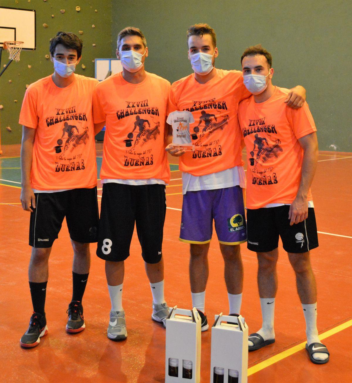 Aldeamayor 3x3, campeones del Challenge 3x3. Foto Eldana CB