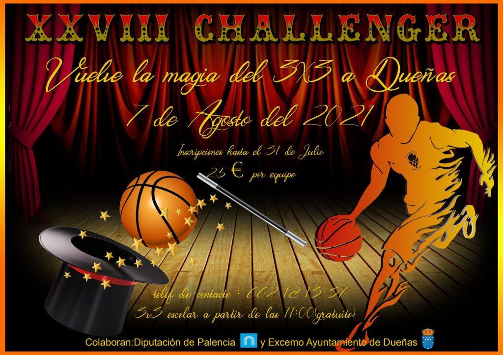 Cartel Challenger 3x3 Dueñas